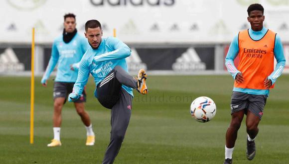 Eden Hazard apunta al partido contra Eibar del domingo. (Foto: Real Madrid)