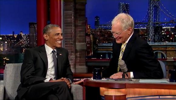 """Las bromas de Obama y Letterman en """"Late Show"""" [VIDEO]"""