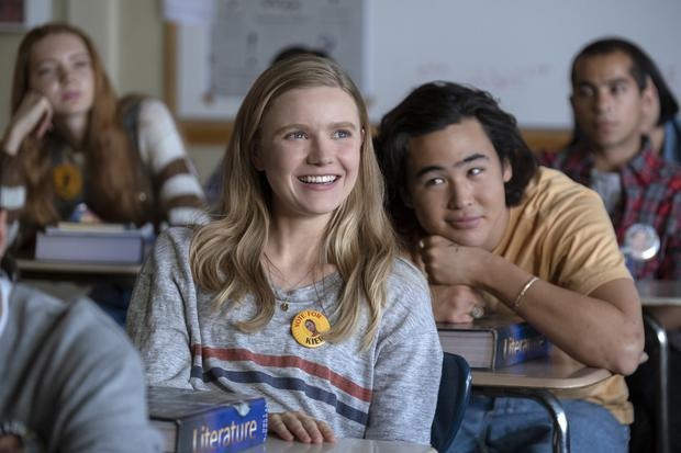 """""""Moxie"""", a high school comedy directed by Amy Poehler and starring Hadley Robinson, as a seemingly shy 16-year-old girl.  (Photo: Netflix)"""