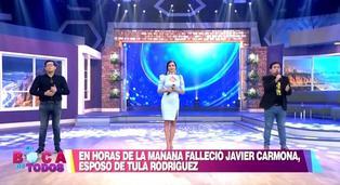 Maju se quiebra en vivo al hablar sobre la muerte de Javier Carmona