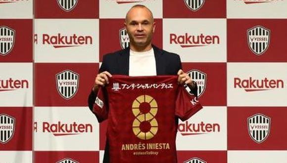 Andrés Iniesta selló su renovación con Vissel Kobe hasta el 2023. (Foto: Vissel Kobe)