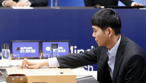 Lee Se-Dol enfrentándose al software de DeepMind. (AP)