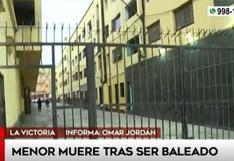 La Victoria: menor de 15 años falleció tras recibir un disparo en el pecho | VIDEO