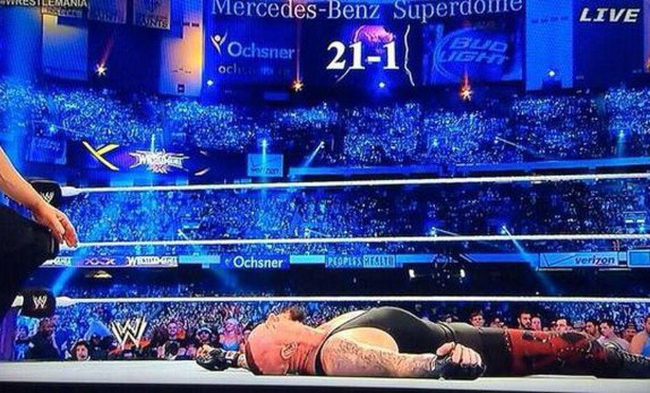 Wrestlemania: 'The Undertaker' perdió invicto ante Brock Lesnar