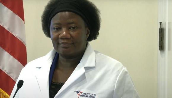 Stella Immanuel nació en 1965, recibió su título de médica en la Universidad de Calabar en Nigeria y tiene una licencia válida para ejercer la medicina, según el sitio web de la Junta Médica de Texas. (YOUTUBE/AGF).