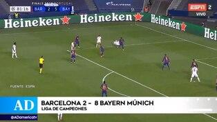 Barcelona cayó 8-2 ante Bayern Múnich y se despide de la Champions League
