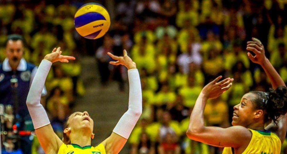 Brasil vs. Puerto Rico: el equipo sudamericano apuntará a la victoria frente a su rival de turno. (Twitter: @volei)