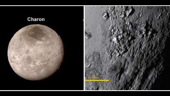 New Horizons revela montañas de hielo en Plutón