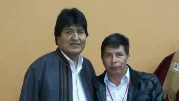 """El expresidente de Bolivia indicó que el candidato presidencial de Perú Libre es """"de los pobres"""" y aseguró que su lucha sigue """" el ejemplo de Jesucristo"""". (Foto: Perú21)"""