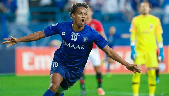 André Carrillo marcó el único gol en la victoria del Al Hilal (1-0) ante el Urawa de Japón en la final de ida de la Liga de Campeones AFC. (Foto: Al Hilal)