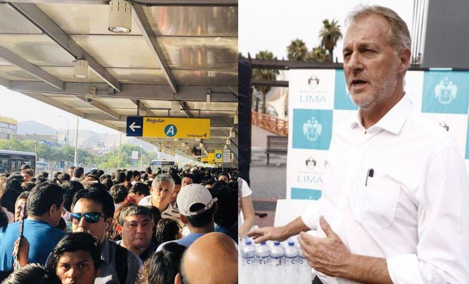 Alcalde de Lima anunció que la comuna planteará a los concesionarios mejoras para el servicio de transporte (@JhanPerz_ / Difusión)