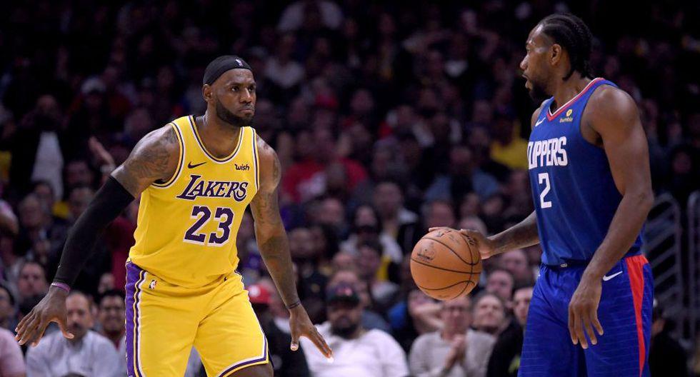 Los Lakers buscarán su primer triunfo frente a los Clippers en la presente temporada | Foto: AFP