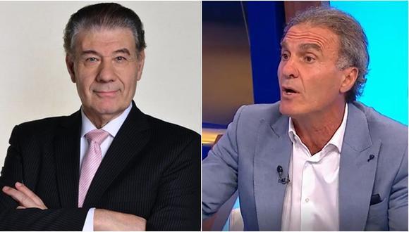 A la izquierda Víctor Hugo Morales y a la derecha Óscar Ruggeri.