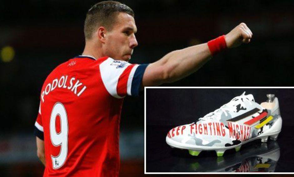 El notable gesto que tendrá Podolski con Michael Schumacher