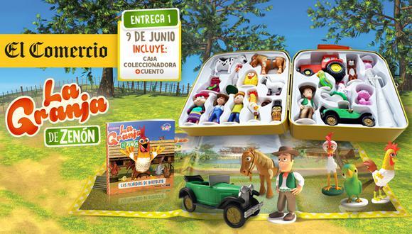 Son 12 entregas con los personajes mas emblemáticos de la granja de Zenón, como Bartolito, Zenón, La vaca Lola, entre otros.