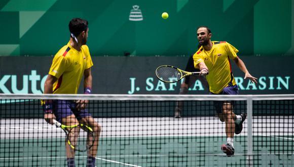Argentina y Colombia se enfrentan en Bogotá por el pase a las finales de la Copa Davis. (Foto: Davis Cup)