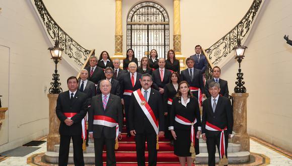 Consejo de Ministros liderado por Ántero Flores-Aráoz. (Foto: PCM)