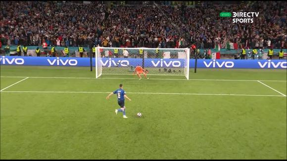 Jorginho and his 'cold' definition in a penalty shoot-out that qualified Italy for the final of Euro 2020. (DIRECTV)