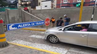 Municipalidad de Miraflores cierra acceso a la Costa Verde ante alerta de tsunami