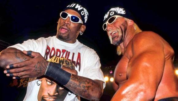 El día que Dennis Rodman luchó junto a Hulk Hogan en un ring de WCW. (Foto: WWE)