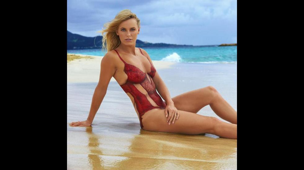 "Wozniacki en espectacular body painting de ""Sport Illustrated"" - 15"