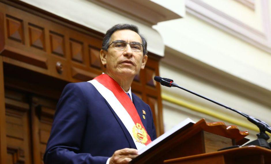 Martín Vizcarra anunció durante su mensaje a la nación del 28 de julio el proyecto de reforma constitucional para adelantar las elecciones al 2020. (Foto: Congreso)