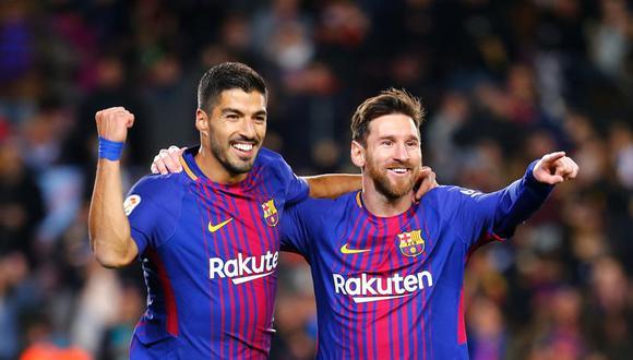 Luis Suárez y Lionel Messi jugaron juntos en el FC Barcelona desde el 2014 al 2020. (Foto: Agencias)