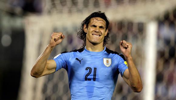 Edinson Cavani anotó 9 goles en 13 partidos, y es el goleador de la Eliminatoria. Su efectividad, por ahora, le da a Uruguay el pase al Mundial de Rusia. (Foto: Reuters)