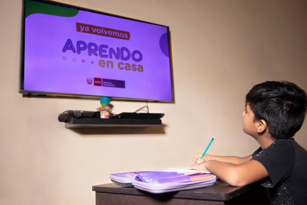 Aprendo en casa permite a los estudiantes peruanos continuar con su educación en medio de la emergencia sanitaria por la pandemia del coronavirus.(Foto: GEC).