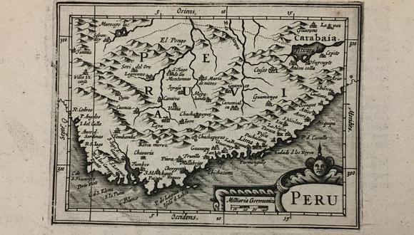 LO QUE UN DÍA FUE. Se estima que este mapa general del Perú fue trabajado entre 1900 y 1919. La litografía y la tipografía es de Carlos Fabbri.  Se obtuvo aquí en Lima durante una venta de libros y papeles variados. (Colección Vladimir Velásquez)