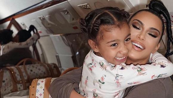 Kim Kardashian y su tierno gesto con su pequeña hija North. (Foto: @kimkardashian)