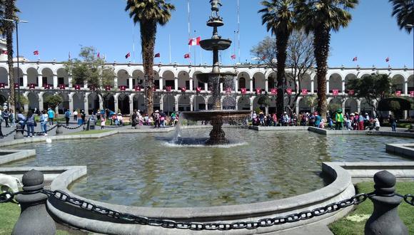 En la Plaza de Armas de Arequipa fue fusilado el general Trinidad Morán el 1 de diciembre de 1854 (Foto: El Comercio)