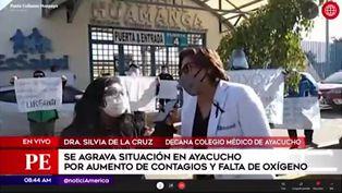 Ayacucho: decana del Colegio Médico advierte que el oxígeno se acabará pronto