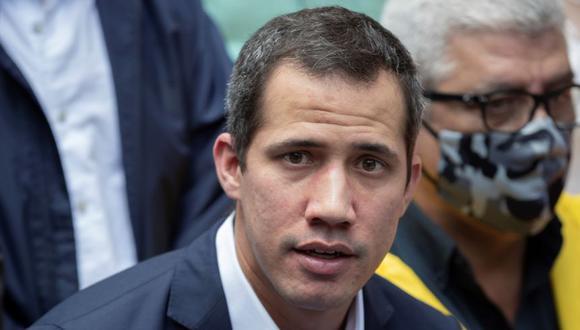Juan Guaidó durante una rueda de prensa en Caracas (Venezuela). (Foto: Archivo / EFE/Rayner Peña).