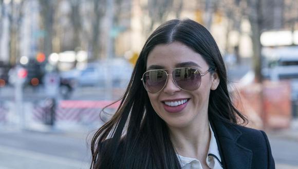 """Emma Coronel, de 31 años y nacionalidad mexicana y estadounidense, encarna el estereotipo de las llamadas """"buchonas"""", como popularmente se conoce en México a las esposas de los narcos que gustan de lujos y cirugías. (Foto: Don EMMERT / AFP)."""
