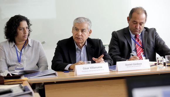 El jefe del Gabinete, César Villanueva, indicó que este lunes jurará el nuevo ministro de la Producción tras la renuncia de Daniel Córdova al referido sector. (Foto: PCM)