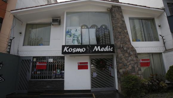 Una mujer, identificada como Marlene Rivera Malque (37), murió tras someterse a una liposucción en la clínica estética Kosmo Medic, ubicada en la cuadra 18 de la avenida Caminos del Inca, en Surco. (Foto: Cesar Grados)