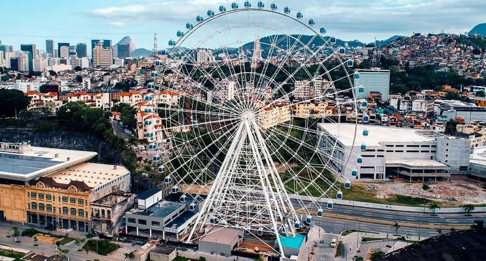 """Con 88 metros de altura y equipada con 54 cabinas climatizadas, """"Rio Star"""" tiene una capacidad para transportar a 432 personas cada 15 minutos. Foto: Referencial"""