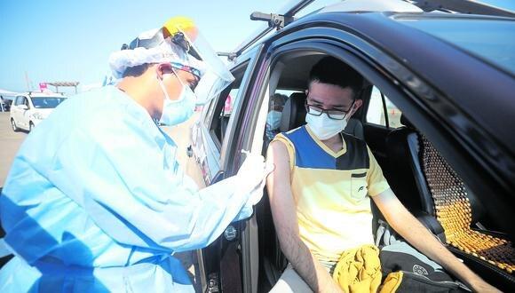 La vacunatón se realizó el último fin de semana en diferentes centros de inoculación en Lima Metropolitana y Callao. (Foto: Britanie Arroyo/ @photo.gec)
