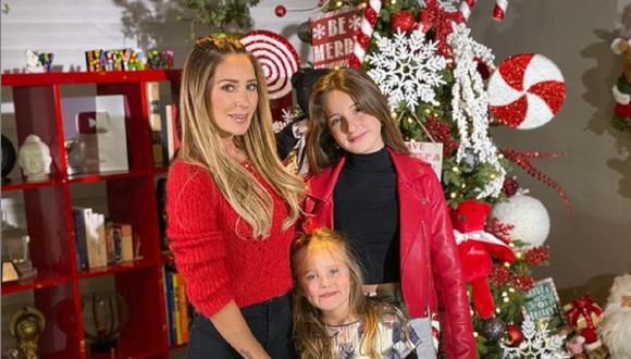 Hijas de Geraldine Bazán pasarán la Navidad con su padre, el actor Gabriel Soto. (Foto: @geraldinebazan)
