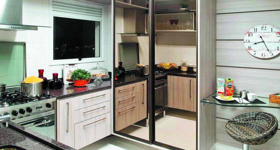 Muebles de cocina. Actualmente, se suelen vender viviendas con los muebles de cocina incluidos. Ten en cuenta que la profundidad óptima de los tableros debe ser 60 cm. (Foto: Todeschini)