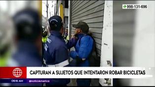 Serenos de la Municipalidad de Lima logran capturar a ladrones de bicicletas