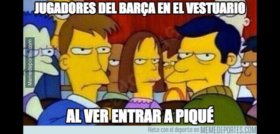 Los memes que se burlan de Piqué e Iniesta tras el clásico - 1