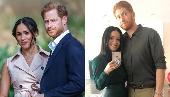 El tráiler de la película muestra las experiencias de Enrique y Meghan de Sussex como parte de la realeza y los sufrimientos de ella. (Foto: AFP / @lifetimetv / Composición)