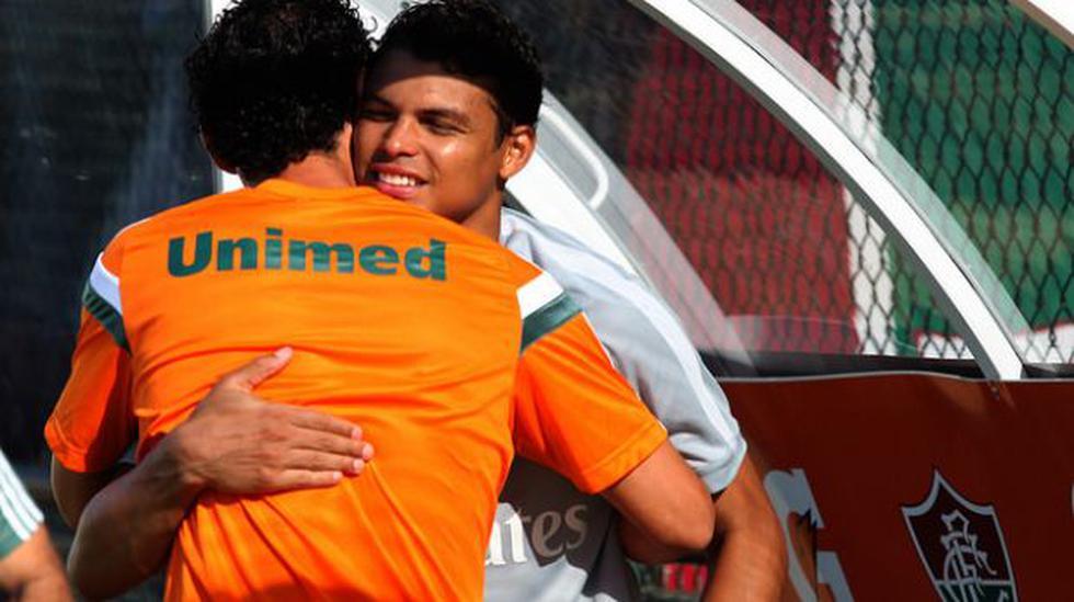 Thiago Silva entrenó con Fluminense antes de viajar a Francia - 2