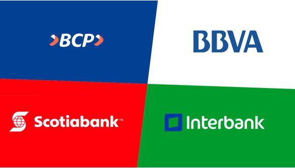 Durante el primer trimestre, el Banco de Crédito disminuyó su utilidad en 28,5%, Scotiabank lo hizo en 0,2%, Interbank en 19% y Mibanco en 28,6%. (Foto: GEC)