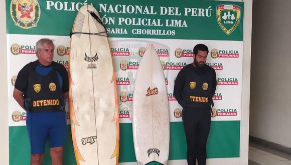 Los sujetos fueron llevados a la comisaría de Chorrillos. (Policía Nacional)
