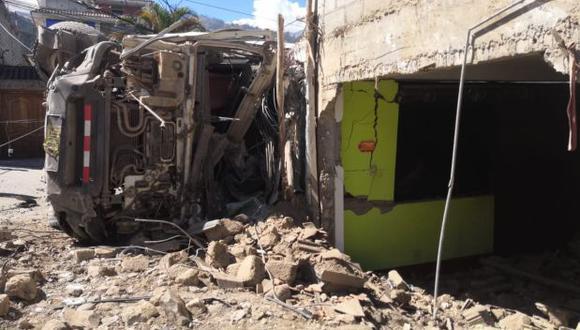 Apurímac: camión se despista y se empotra contra vivienda en Abancay