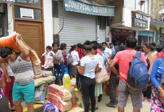 Vraem: largas colas durante todo el día para abastecerse de víveres ante estado de emergencia