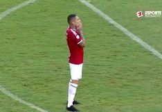 Paolo Guerrero falló clarísima chance de gol en la derrota del Internacional frente a Ceará | VIDEO